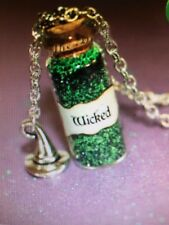 Wizard of Oz WICKED Silver necklace with Wicked Witch Charm New