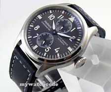47mm parnis gray dial luminous power reserve ST2542 automatic mens watch P273