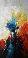 "Original Acrylic Painting on Canvas Abstract Art. by Hunoz 34"" x 16"""