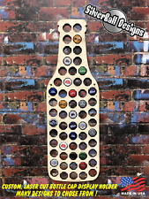 Beer Bottle Custom Beer Pop Cap Holder Collection Display Art Gift Man Cave