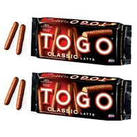 2 x Pavesi Togo Classic Milk Chocolate Biscuits Cookies Fingers 120g Biscotti