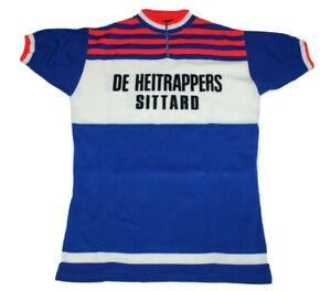 Cycling Vintage 80`s De Heitrappers Sittard Jersey Size 6 NLV