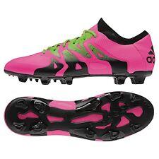 Adidas x 15.1 FG/ag sintética botas de fútbol rosa/verde/negro [s74597]