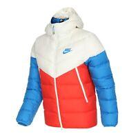 Nike Down Fill Windrunner Hooded Jacket UK L Team Red White Blue CU0225-133