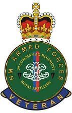 29 Commando Royal Artillery HM Armed Forces Veterans Cling Sticker