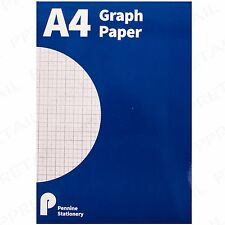 Graph Paper A4 Notepad Maths Exercise Book Square Margin 2 Mm Grid Office School Grey