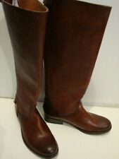 New Women's Frye 'Melissa Button 2' Brown Leather Knee High Boots Size 6