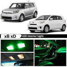 8x Green LED Interior License Plate Lights Package Kit for 2008-2015 Scion xB xD