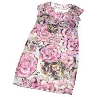 CHANEL 09P #36 Round Neck Floral CC Short Sleeve One Piece Dress AK37897