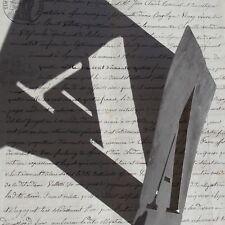 Antique vintage French Printing Stencil Metal A Letter Press Alphabet Print