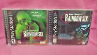Clancy's Rainbow Six + Lone Wolf  -  Playstation 1 2 PS1 PS2 Game Lot Complete