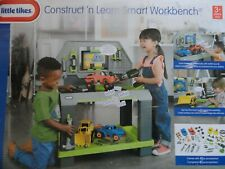 LITTLE TIKES CONSTRUCT 'N LEARN SMART WORKBENCH W/ 40+PIECES .AGES 3+