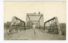 Man Sitting on Bridge Larned Ks Pawnee County 1910s