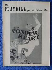 The Ponder Heart - Music Box Theatre Playbill w/Ticket -  Feb. 1956 - Wayne