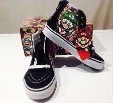 VANS Nintendo Mario & Luigi SK8-HI UK Größe 12.5 Eu 30.5 Kinder Jungen Mädchen