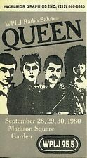 Queen 1980 Wplj cloth backstage pass #658