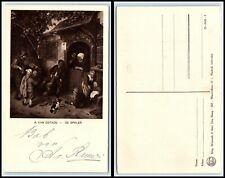 "Vintage ART Postcard - ""The Fiddler"" by Adriaen van Ostade AB"