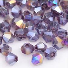 swarovski Jewelry crystal 5301 4mm bicone Beads 100pcs  purple ab