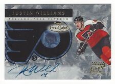Justin Williams Philadelphia Flyers Topps Certified Autograph Card #GLA-JW
