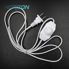 White Lamp Power Cord Dimmer Switch AC 250V/110V 50/60Hz US Plug