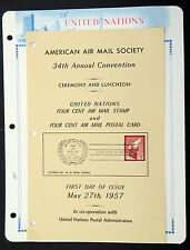 United nations FDC American AIRMAIL society-First Day of issue 1957 (Lot 4575