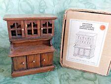 Vtg New CONCORD Mini Dollhouse Wood HUTCH / CHINA CABINET Orig Box