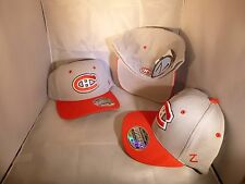 MONTREAL CANADIENS NHL GREY RED SIZE MEDIUM LARGE 7 - 7 3/8 FLEX FITTED HAT CAP