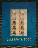"""Stamp Pack - 1999 """"Celebrate 2000"""" Sheetlet Presentation Pack"""
