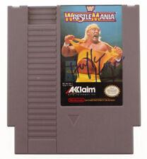 "Hulk Hogan Signed ""Wrestle Mania"" Nintendo Game Cartridge (Beckett Coa)"