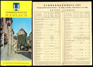 tour. Prospekt, Haslach an der Mühl, Oberösterreich, + Beilage, 1973