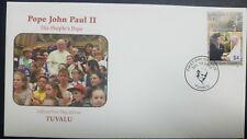 O) 2005 TUVALU, POPE JOHN PAUL II AND QUEEN ELIZABETH II-SCOTT A192, FDC XF