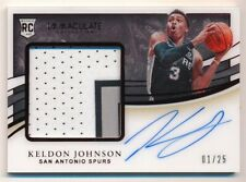 KELDON JOHNSON 2019/20 IMMACULATE COLLECTION RC RED AUTO 3 COLOR PATCH SP #01/25