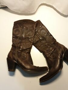 Ladies Lather Cowbow Texan Boots Size 39