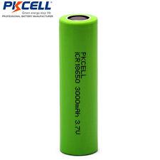 5pcs x 3000mAH 18650 Battery 4.2v Li-ion For Vape Mod Flat Top PKCELL CA
