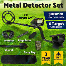 Metal Detector Gold Digger Finder Deep Sensitive Waterproof Hunter w/LCD Display