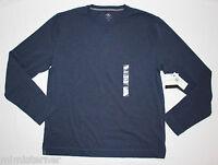Calvin Klein Men's Crew Neck Shirt Long Sleeve Pullover Deep Space Blue Multi Sz
