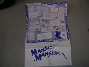 MANIAC MANSION (Nintendo NES) Original Map Poster