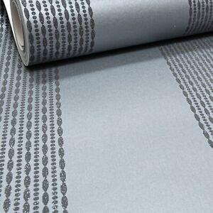 Arthouse Glitter Silver Metallic Grey Gunmetal Textured Wallpaper Stripe Modern
