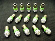 15 BRIGHT Green 5 LED Instrument Panel Dashboard Light Bulbs BA9S 1815 1895 GM