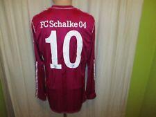 "FC Schalke 04 Adidas Langarm Matchworn Trikot 2011/12 ""GAZPROM"" + Nr.10 Gr.L"