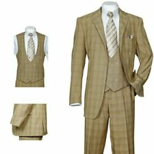 Men's 3 Piece Luxurious Suit With Vest&Pants Two Button Two Side Vents 5702V6