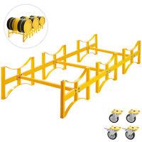 Stackable Drum Rack Steel Drum Rack 55-Gallon, 30-Inch Depth Barrel Rack-3 Drums