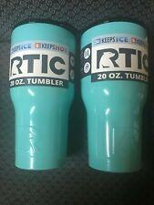 RTIC 20 oz tumbler with lid -Set of 2 -  NIB - Teal - Free Shipping!