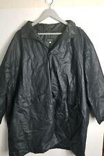 Eskandar Womens Black Rain Coat Jacket Hooded England Cotton PU Size 0