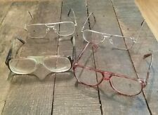 Men's Vintage Tortoise Gold Flex Aviator Prescription Eye Glasses Frames 4 lot