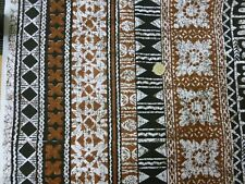 Browns & White Batic Style Crisp Cotton (114cmW) Per Metre
