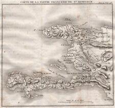 HAITIAN REVOLUTION. 'Partie Française de St. Domingue'. Hispaniola 1821 map