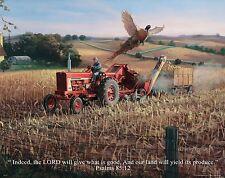 Religious Motivational Poster Print International Tractor Psalms 85:12  RELG14