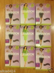 Curvation 1 Curvaceous Tummy  Pantyhose (3 pair) Nude 3522 ,Coffee,Pecan 3596