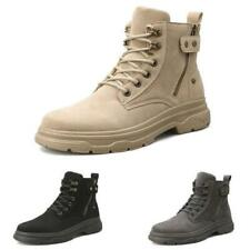 Mens High Top Work Desert Ankle Boots Shoes Outdoor Hiking Sports Flats Casual D